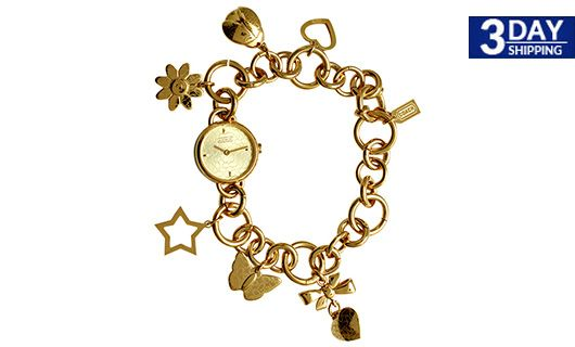 Get 62 Discount On Coach Zoe Charm Bracelet Watch Gold