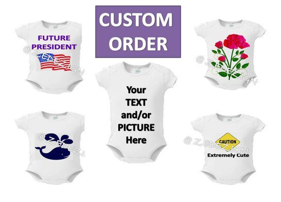 Custom baby body suit personalized gift personalized baby gifts baby onsie toddler tee free shipping custom order by zedezign negle Image collections