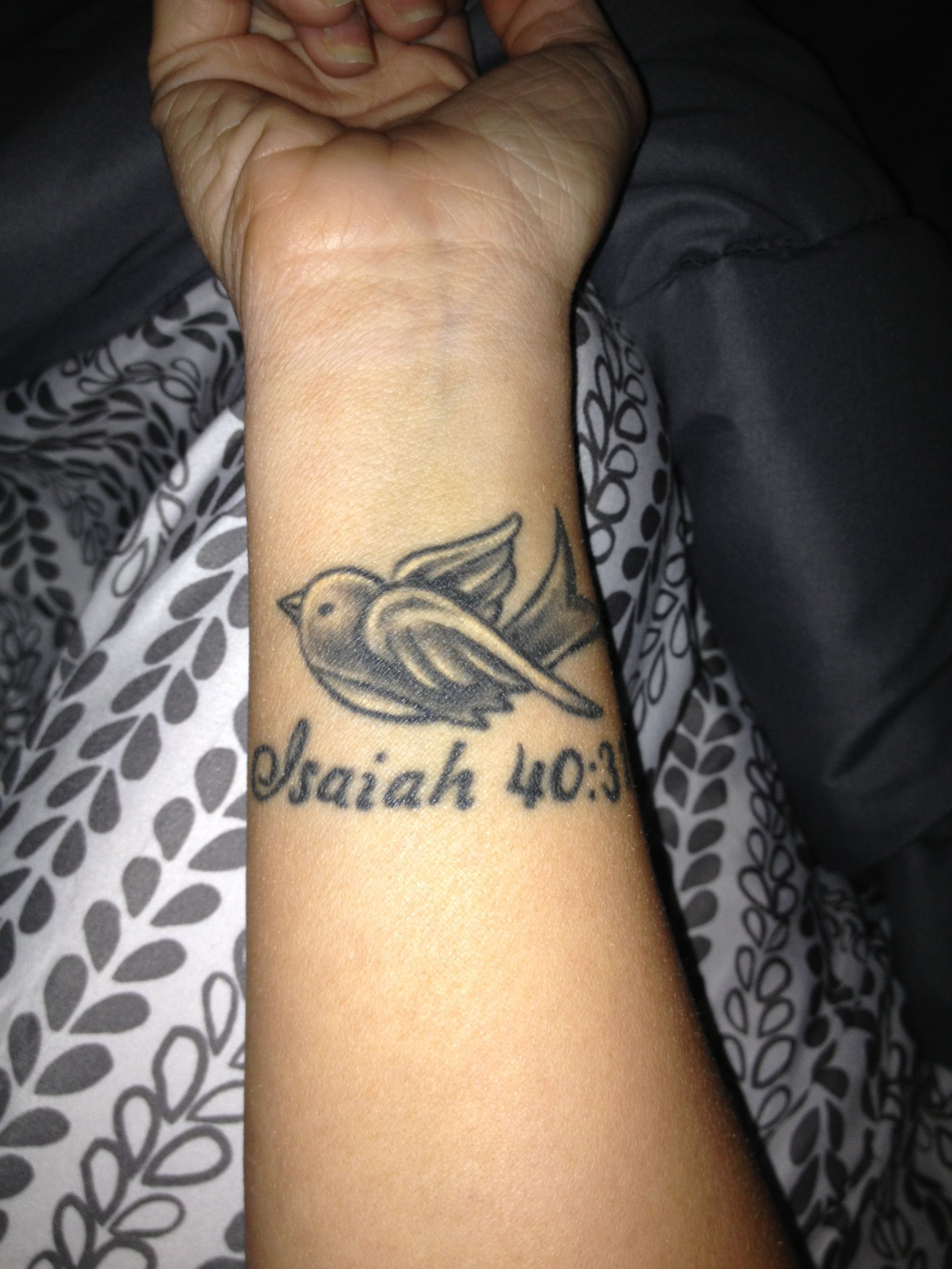 My wrist tattoo in memory of my dad isaiah 40 31 ink for In memory of my dad tattoo designs