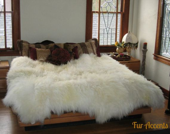 Sheepskin Faux Fur Area Rug Thick Mongolian Icelandic Fake Bedroom Pelt Limited Offer