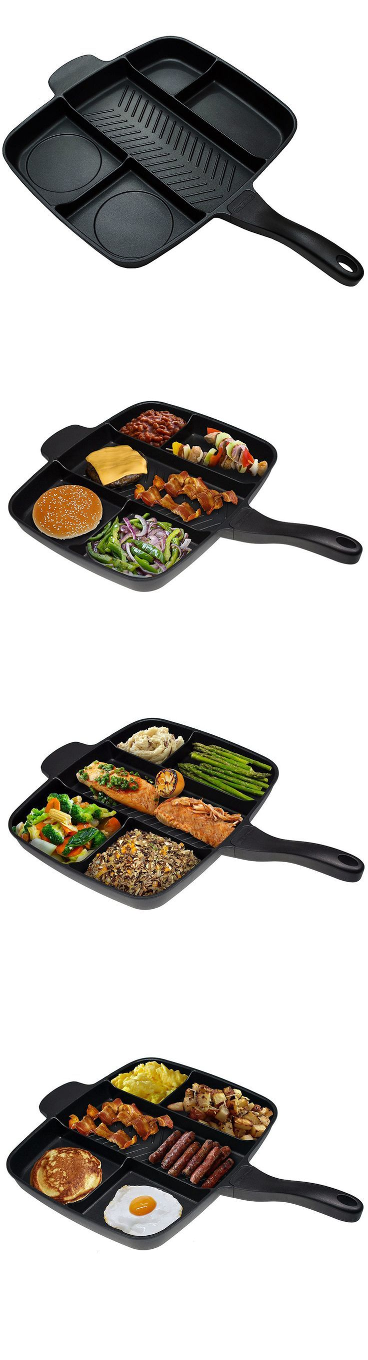 Photo of Master Pan Non-Stick Divided Grill/Fry/Oven Meal Skillet – Gwyl.io
