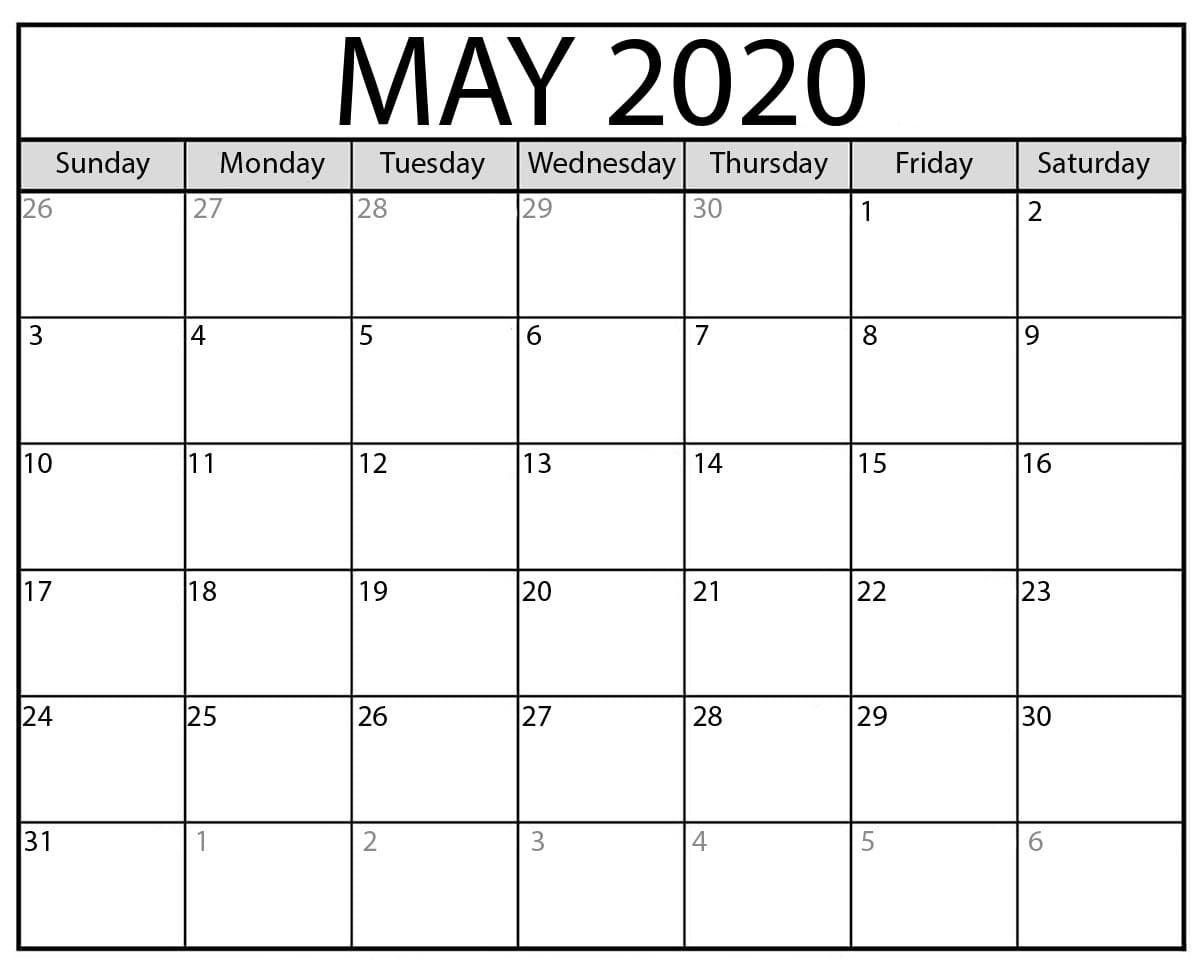 Free Printable Calendar May 2020 Download Free Printable Calendar Template In 2020 Calendar Printables Calendar May Monthly Calendar Printable