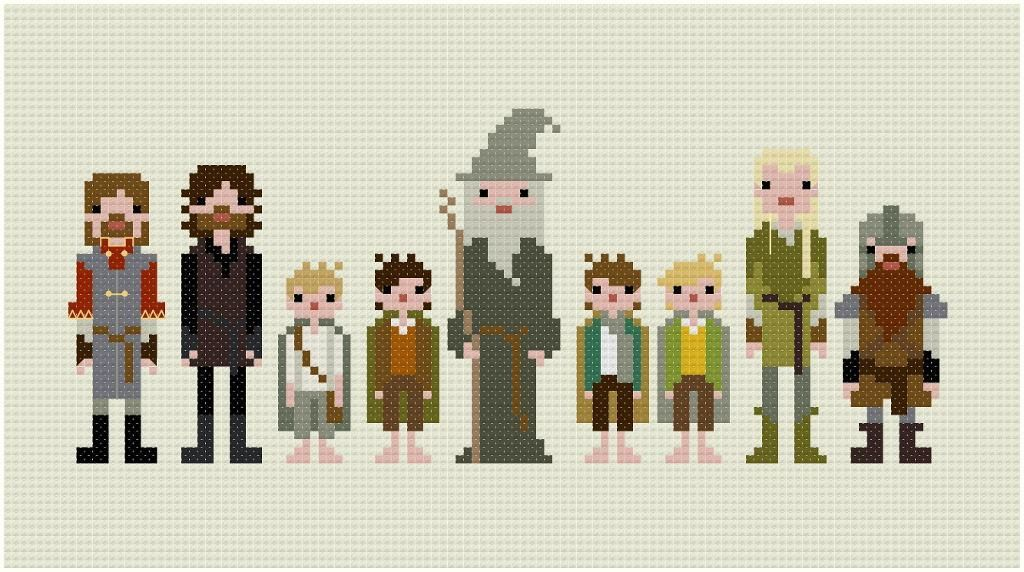 Fellowship of the Ring cross stitch