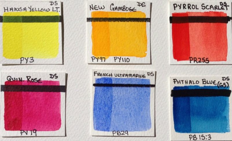 Daniel Smith Essentials Watercolor Set Paint Outs By Brenda