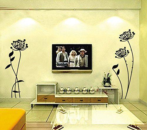 Flower Wall Stickers New Black Wall Sticker Paper Home Decor Art