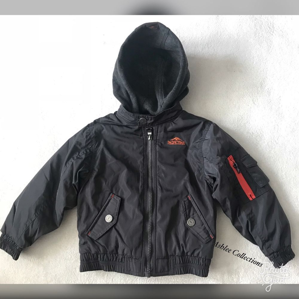 5915243d830f Pacific Trail Toddler Boys Winter Jacket Coat Black- Size 4T ...