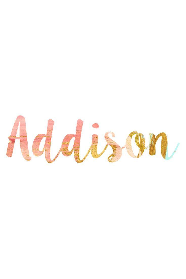 Addison: Unisex Baby Names I Nameille.com | Renovation Do ...