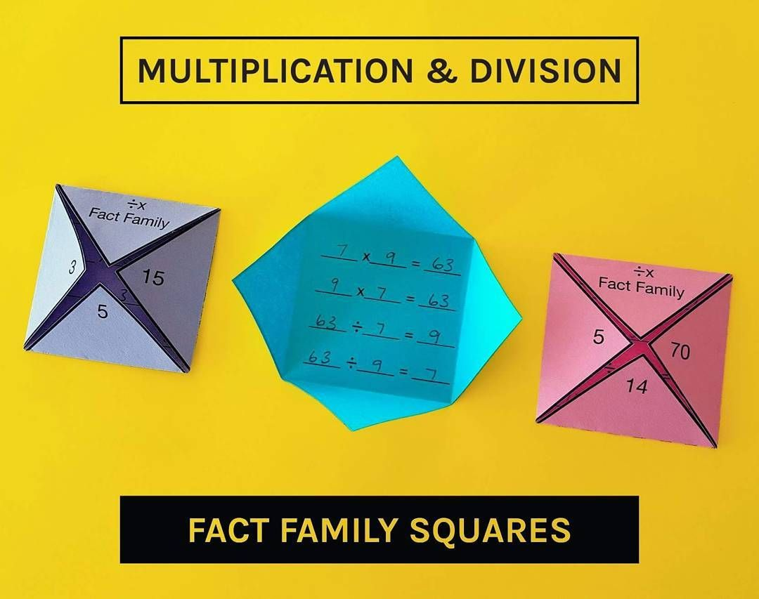 Multiplication Amp Division Fact Family Activity