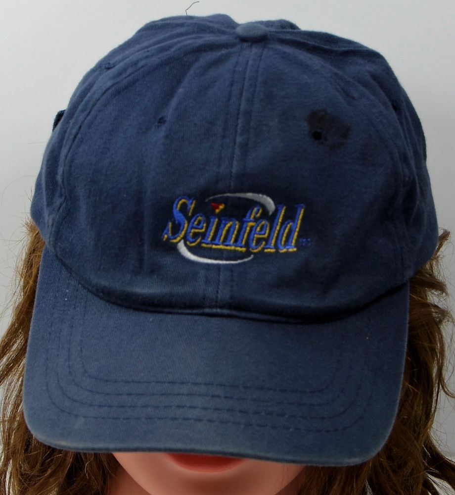 bfa0c2a6ab3 VTG SEINFELD Hat Blue Strapback Adjustable Cotton Cap Used  KNP  BaseballCap