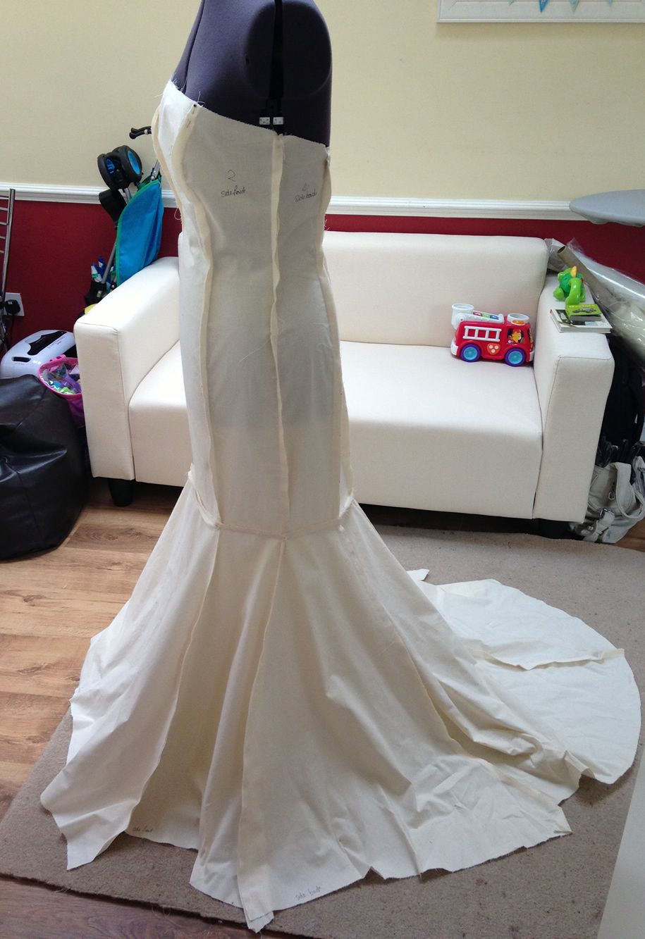 Fishtail wedding dress pattern - stage 1 - Make Your Own Wedding ...