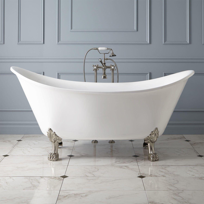Brenham Acrylic Clawfoot Tub Lion Paw Feet Bathroom