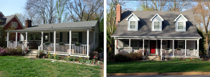 Before After Photos Of A Modular Home Addition By Carbide Construction This Addition Is What We Call A Secondstory Modular Homes Home Addition Home Additions