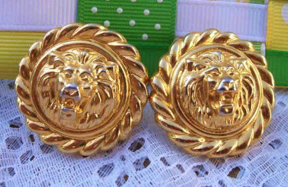 Bright Bold Gold Classic Preppy Lions via 20thcenturyrose@etsy.com.