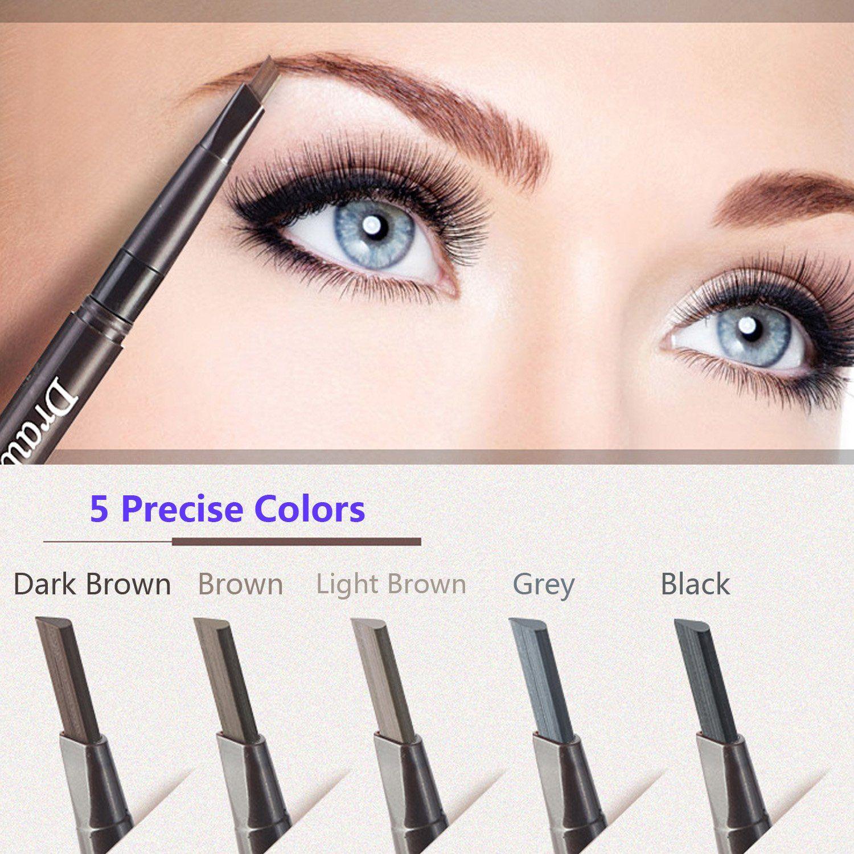 Levieya Brand Eyebrow Pencil Waterproof And Doubleends With Brush 5