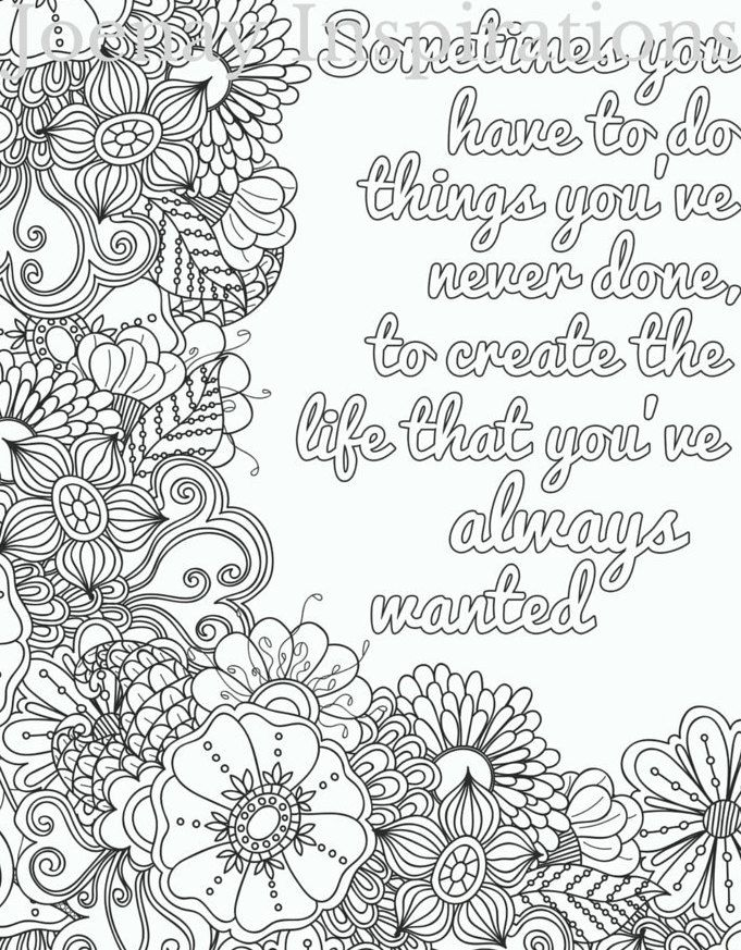 free inspirational quote adult coloring book image from liltkids - My Color Book Printable