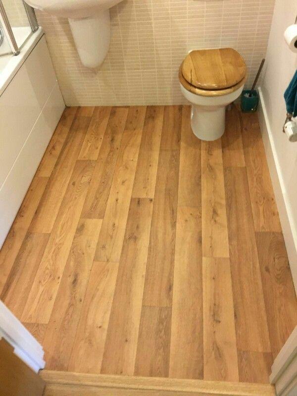 Wooden Dark Brown Effect Cushion Vinyl Floor Vinyl Flooring And