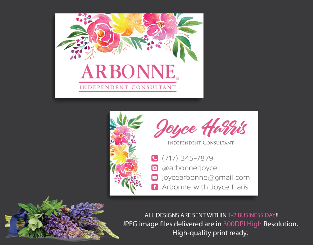 Arbonne Business Cards Personalized Arbonne Cards Ab20 Arbonne Business Cards Arbonne Business Personal Business Cards