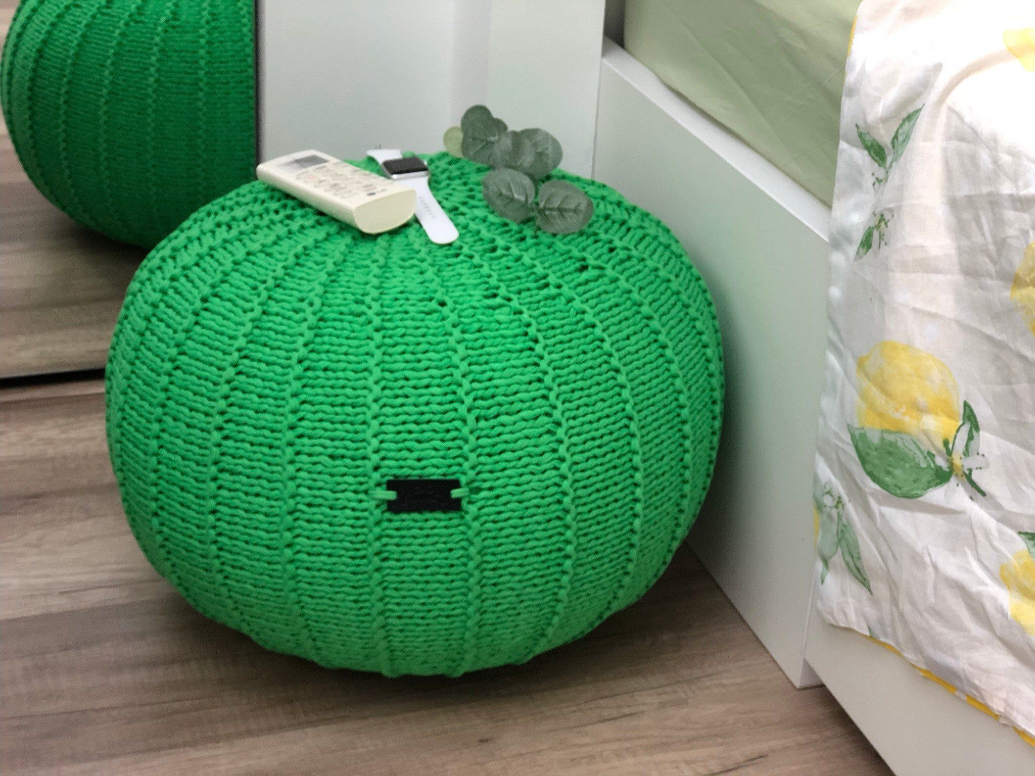 Knit pouf ottoman, Green pouf Knitted footstool Knitted floor pouf Green ottoman, #Floor #Footstool #green #Knit #Knitted #Ottoman #Pouf