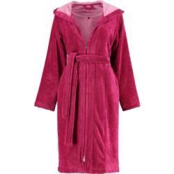 Photo of Vossen bathrobe ladies short coat with hood Palermo cranberry – 002 – Xs Vossenvossen