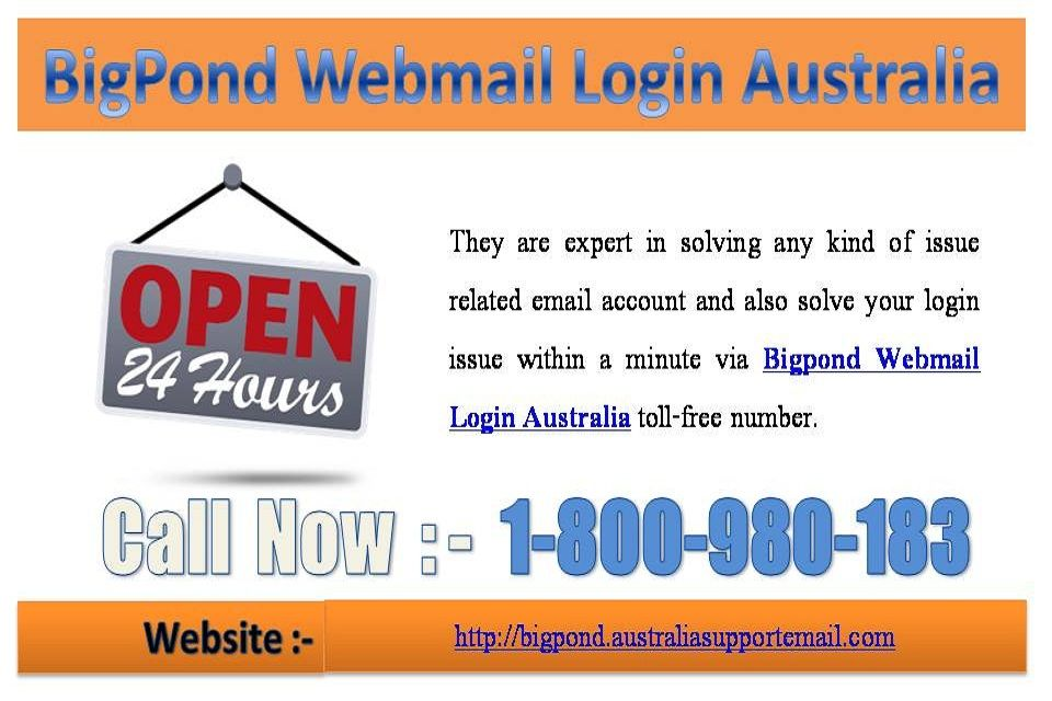 Solve Complicated Issue Via Bigpond Webmail Login Australia 1 800