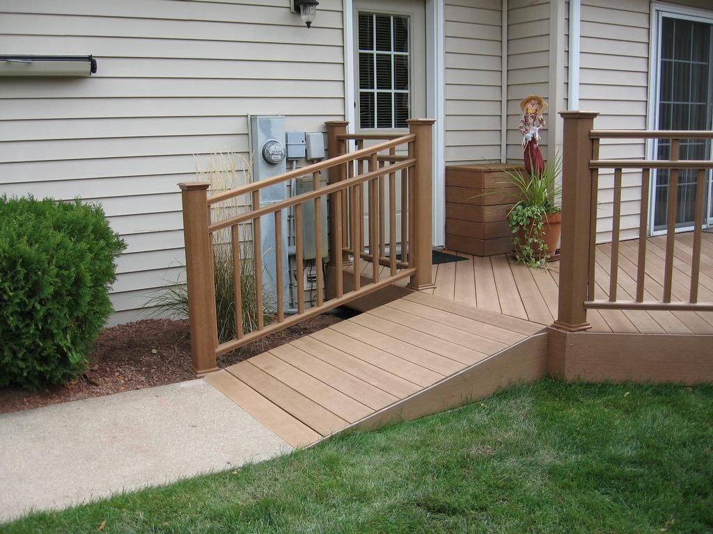 Aesthetically Pleasing Wheelchair Ramps To The Front Door Wheelchair Ramp Handicap Ramps Building A Deck