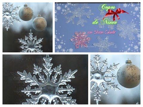 Decoración navideña: Copos de nieve con silicon caliente | Manualidades