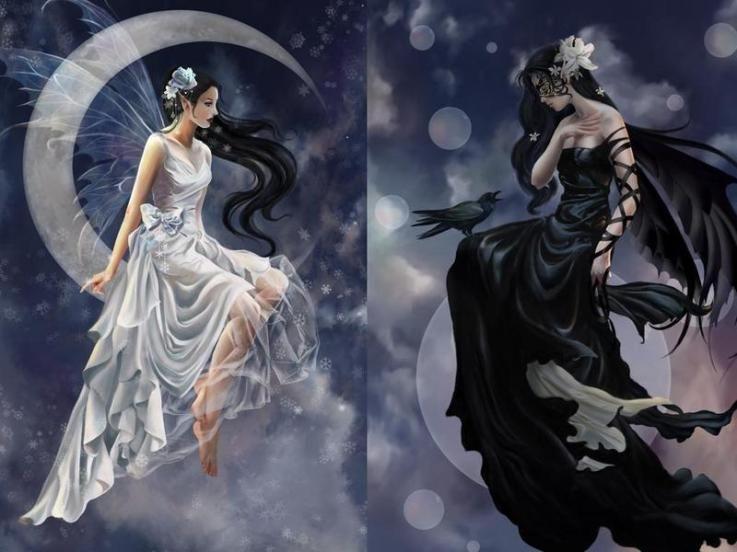 Light Vs Dark Fantasy Art