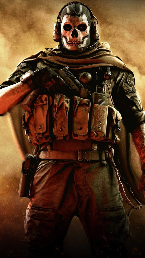 Skull Mask Call of Duty Modern Warfare 4K Ultra HD Mobile Wallpaper