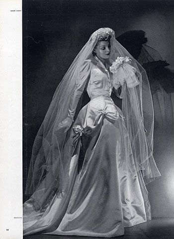 1939 wedding gown by Cristobal Balenciaga | This Is 1930s Bridal ...