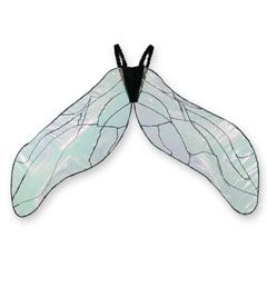 Childs Black Green Butterfly Wings Insect Fairy Tale Fancy Dress Accessory