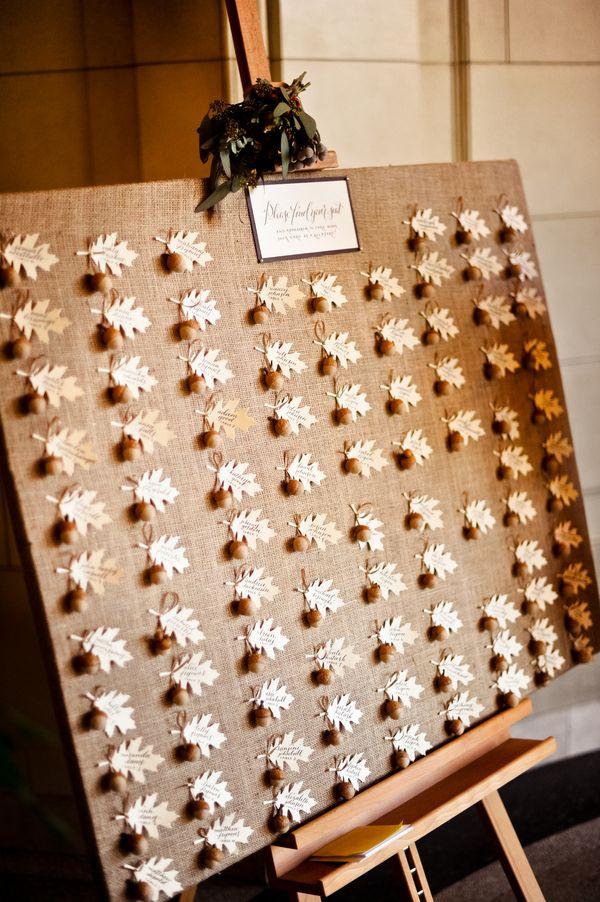 Fall Weding Place Cards 275x413 DC Wedding Reception: Diana + John ...