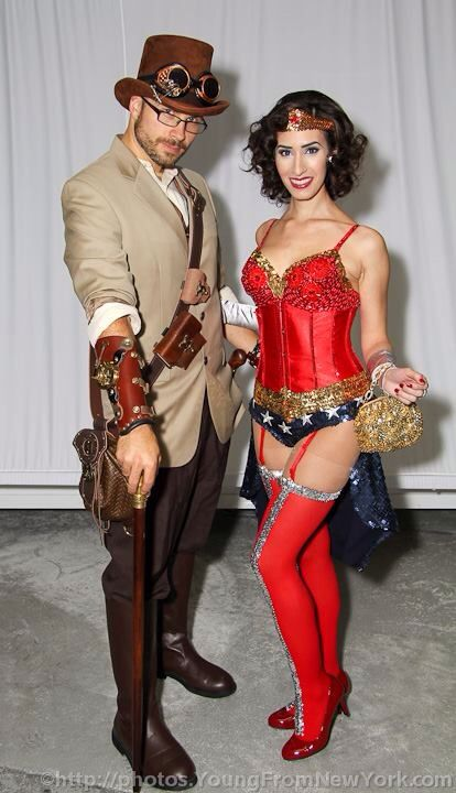 Me: Steampunk outfit Sydney: Burlesque Wonder Woman