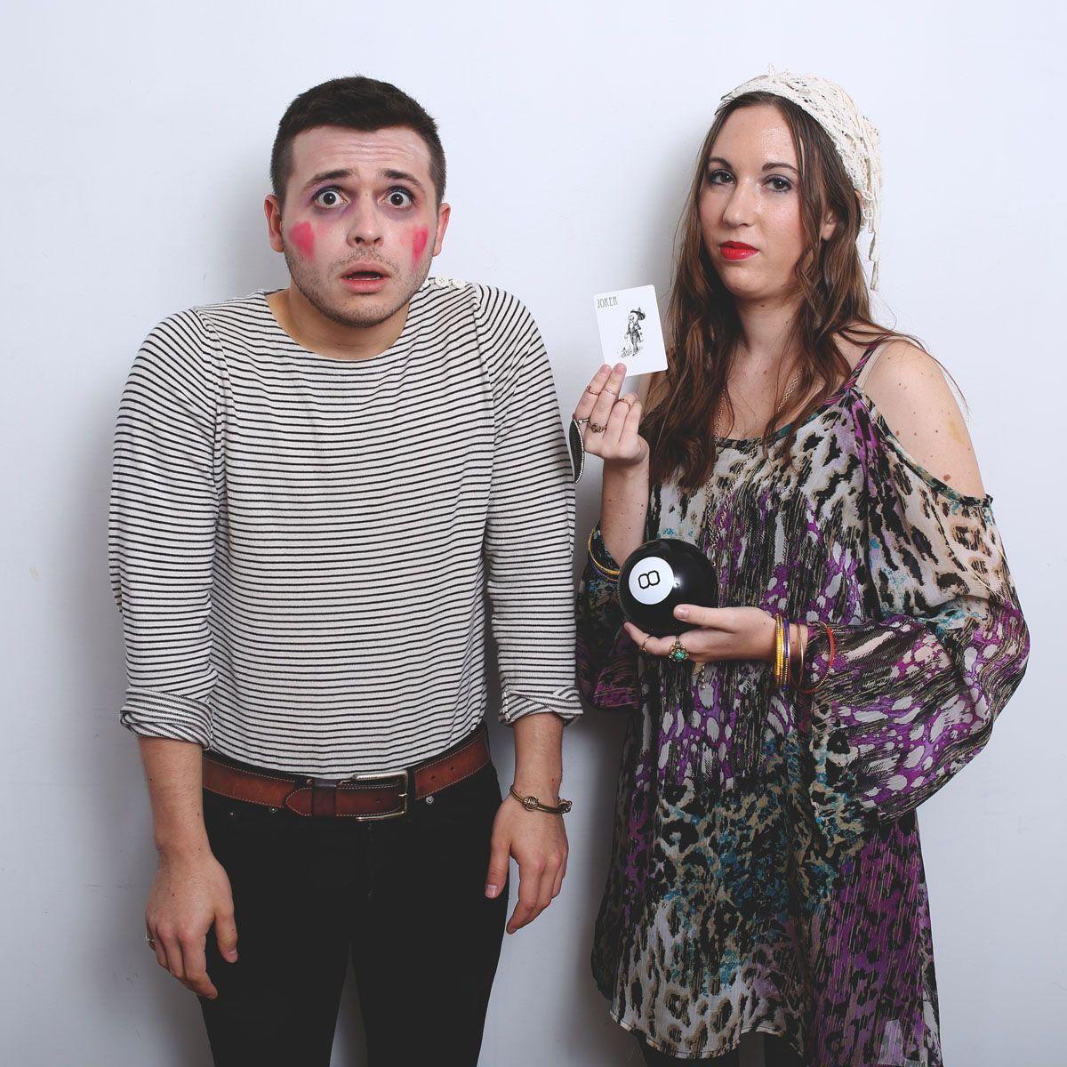 diy halloween costume: mime | joey, fortune teller | phoebe | inside