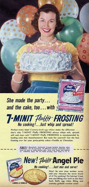 7 Minit Frosting Ad Cutesy Spelling Really Seemed To Be Popular In The 1950s