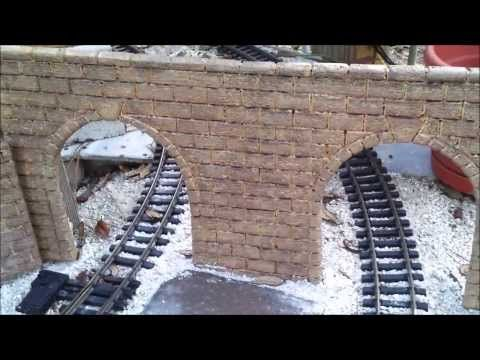 ▷ How to make G-scale stone block tunnel portals and walls