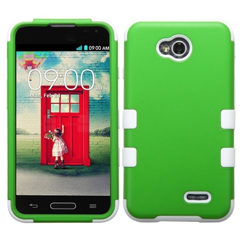 Insten PC Soft Silicone Dual Hybrid Phone Case Cover for LG Optimus L70/ Exceed II/ Dual D325