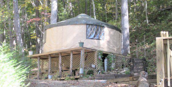 Yurts to rent $40/night! Plumtree, NC