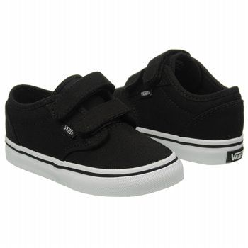 Athletics Vans Kids  Atwood V Canvas Black White FamousFootwear.com ... abf02617054