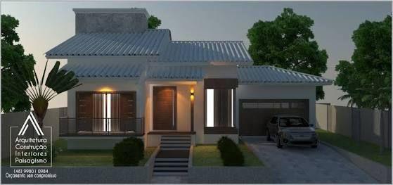 Resultado de imagem para fachadas de casas terreas com for Fotos de casas modernas com telhado aparente