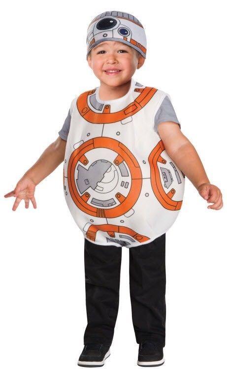 NEW Disney Star Wars BB-8 Toddler Child Halloween Costume Romper 3T-4T 3-4 Years #Rubies #HeadpieceRomper