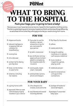 What To Pack In A Hospital Bag Checklist  Hospital Bag And