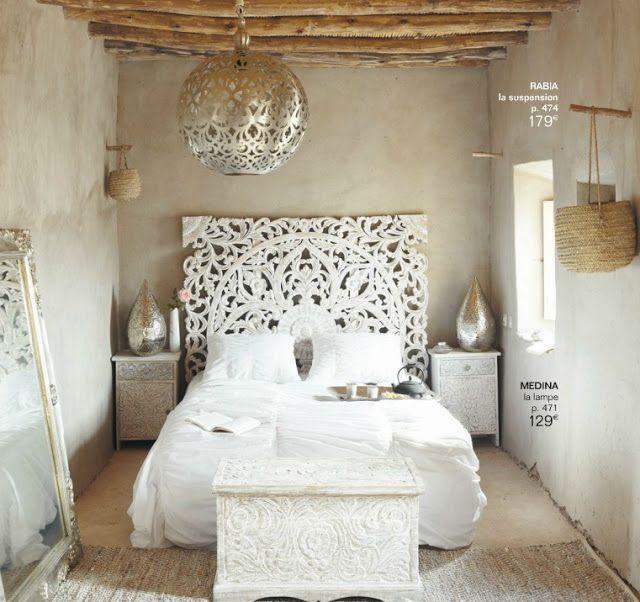 chambre esprit hammam maison du monde nat et nature chambre white headboard home decor