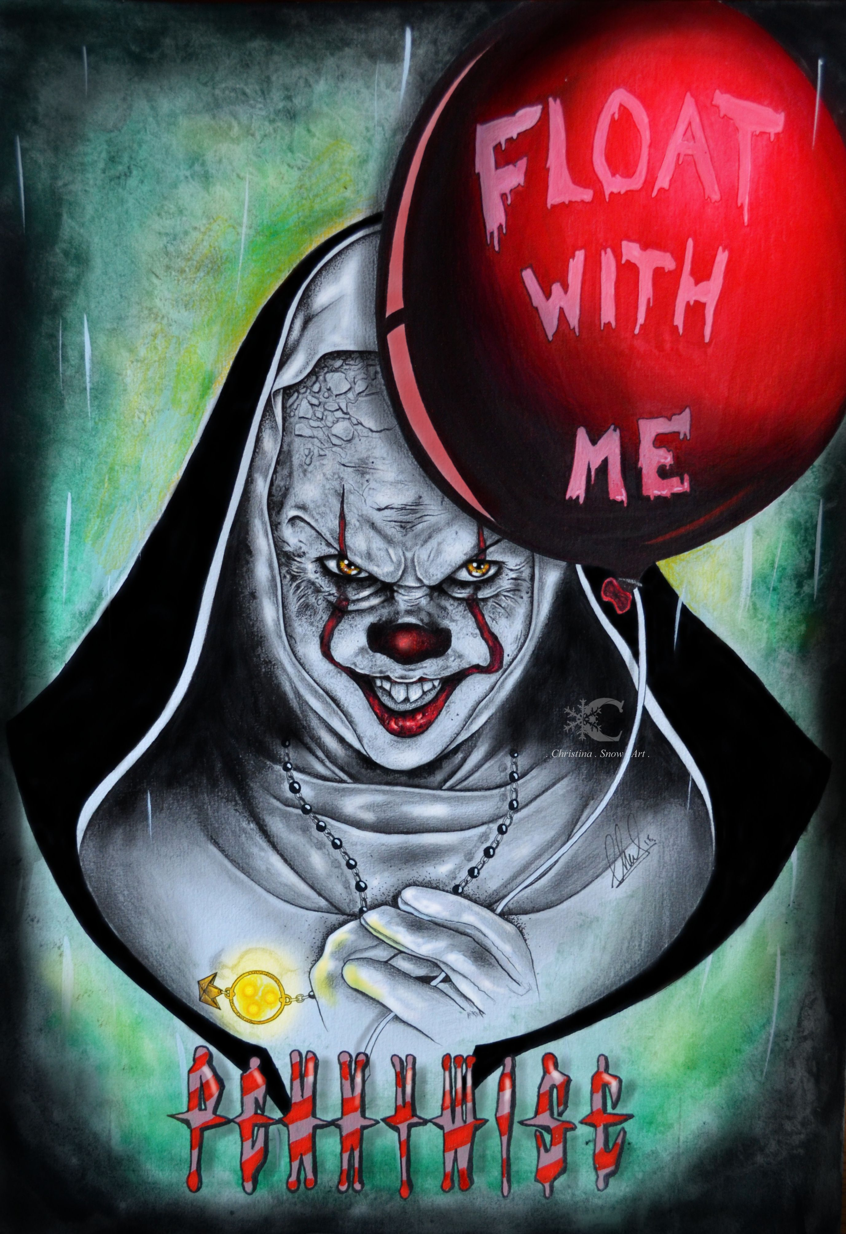 My Artwork on Pennywise - The Nun movie  Concept art  | St + it fam