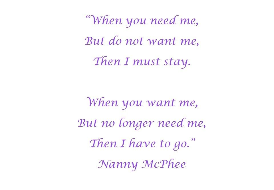 When You Need Me Quotes: Nanny Mcphee Quotes