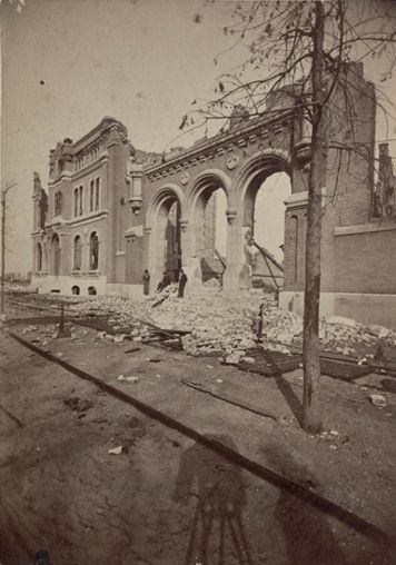 Ruins Of St Joseph S Chicago At Rush 1871 Chicago Pictures