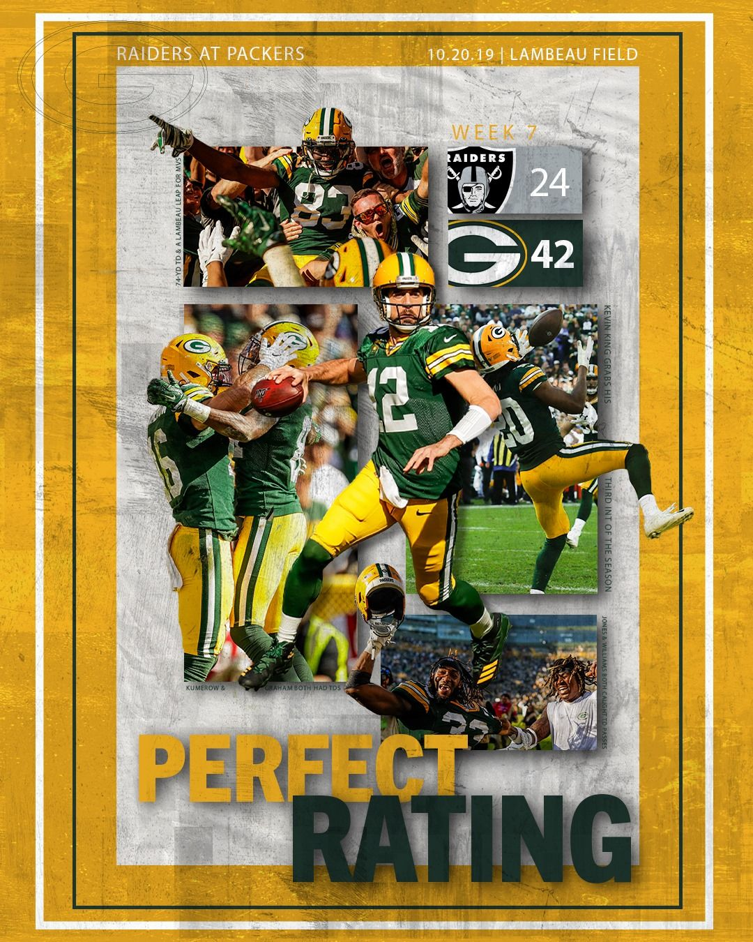 Perfect Rating Packers Green Bay Lambeau Field