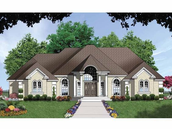 Eplans French Country House Plan European Luxury Under 2 000 Sq