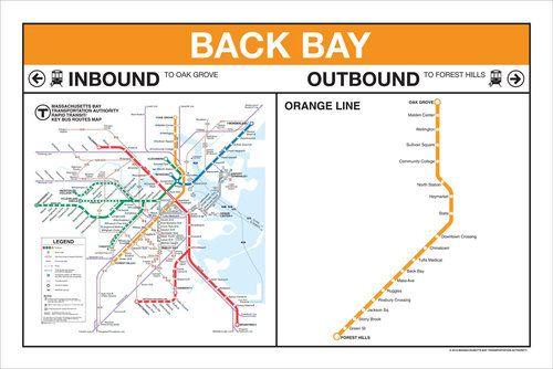 orange line map boston Mbta Signage Station Map Gift Store Signage orange line map boston