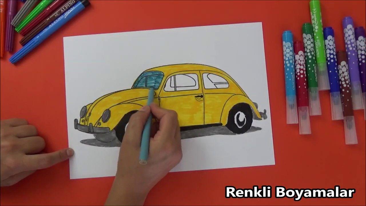 Volkswagen Beetle Boyama Sayfasi Volkswagen Beetle Volkswagen Beetle