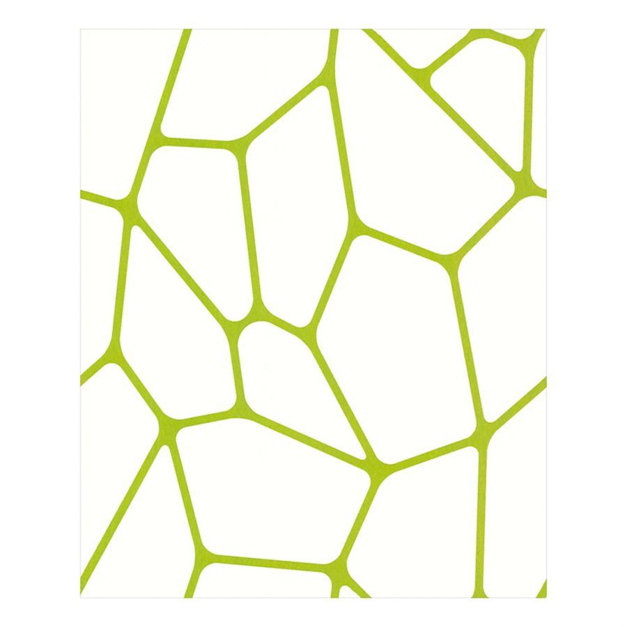 Vliesbehang Micro - groen/wit - glad